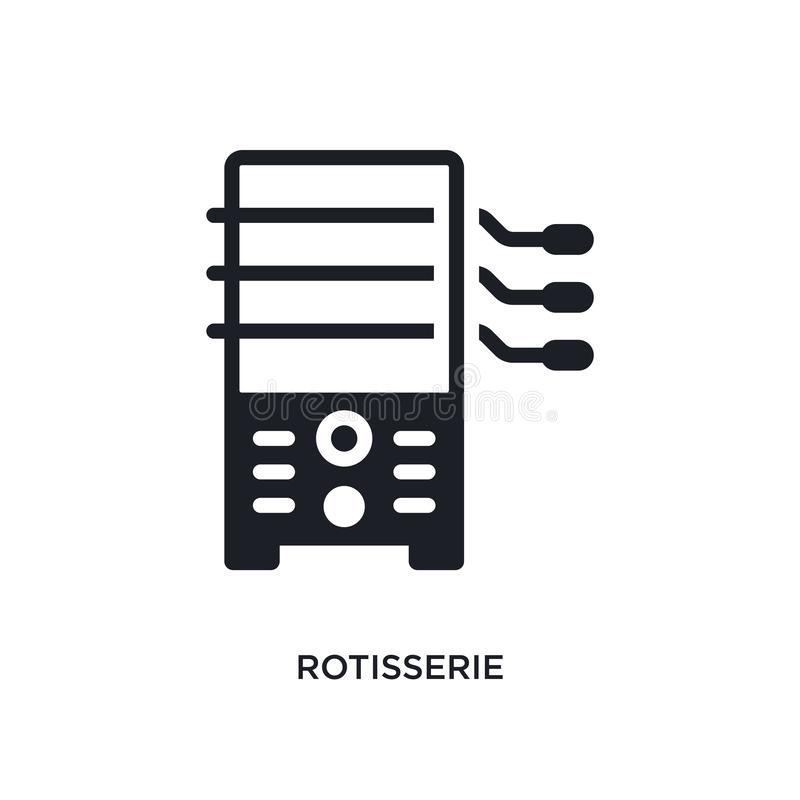 rotisserie isolated icon. simple element illustration from electronic devices concept icons. rotisserie editable logo sign symbol vector illustration
