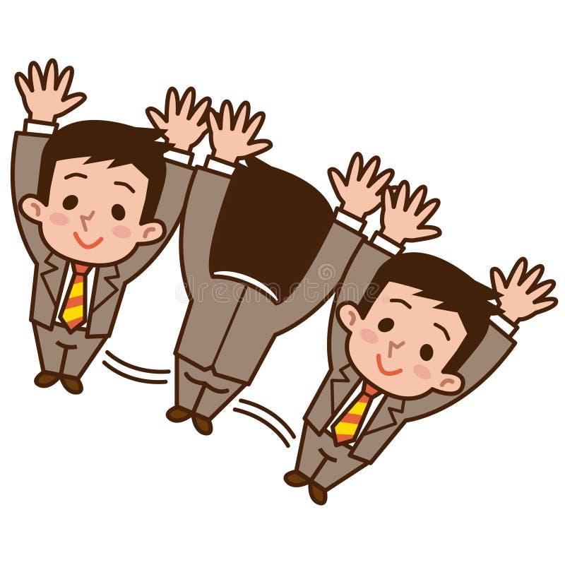 Rotolamento dell'uomo d'affari illustrazione vettoriale