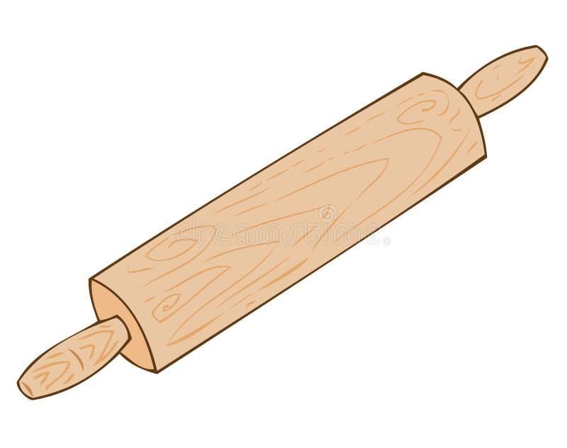 Rotolamento-perno di legno. royalty illustrazione gratis
