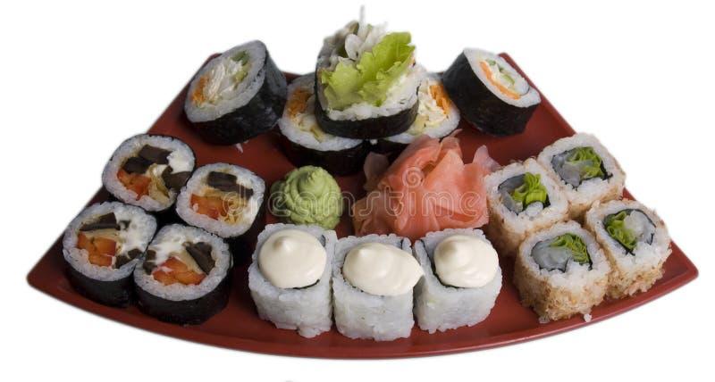Rotolato e sushi fotografia stock libera da diritti