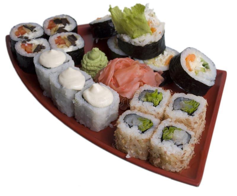 Rotolato e sushi immagine stock libera da diritti