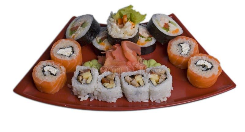 Rotolato e sushi fotografie stock libere da diritti