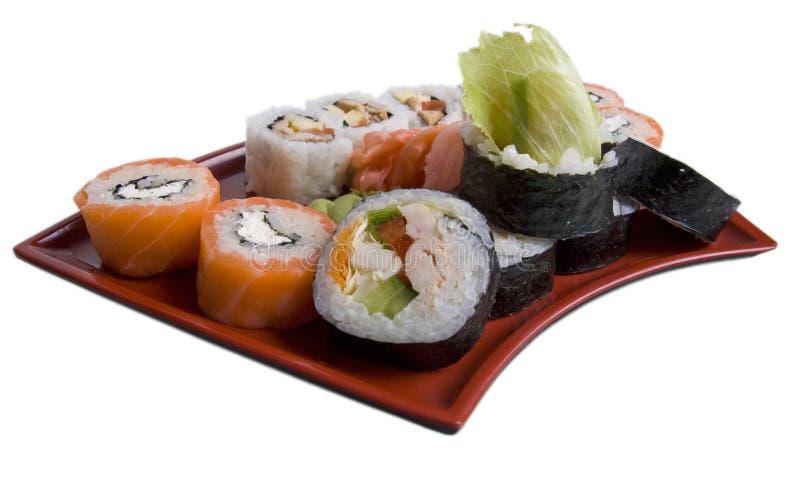Rotolato e sushi fotografie stock