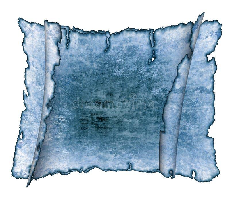 rotoli antichi blu della carta pergamena royalty illustrazione gratis