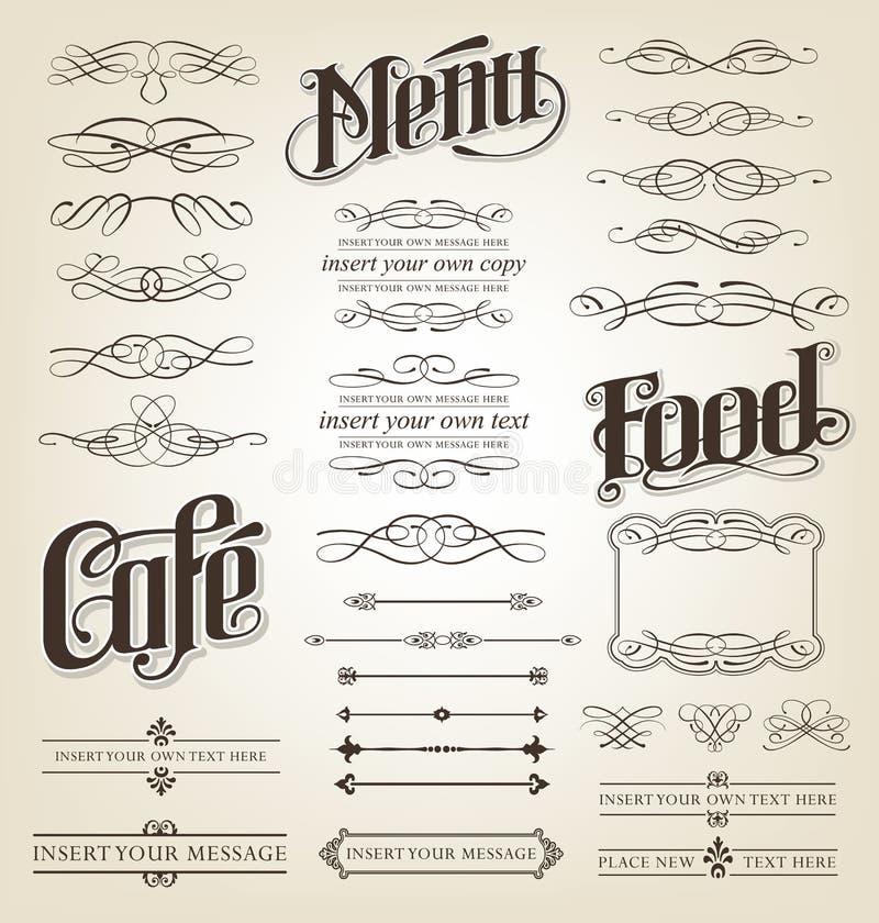 Rotoli calligrafici e decorativi illustrazione di stock