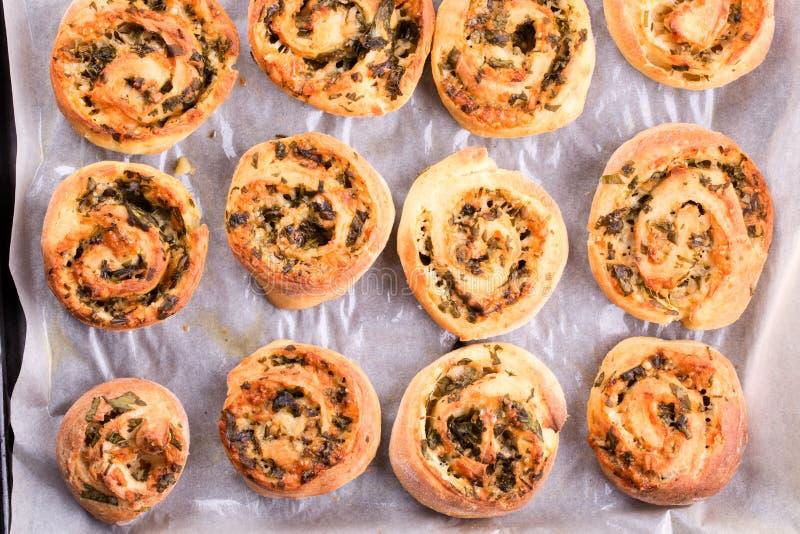 Rotoli del panino del formaggio fotografia stock libera da diritti