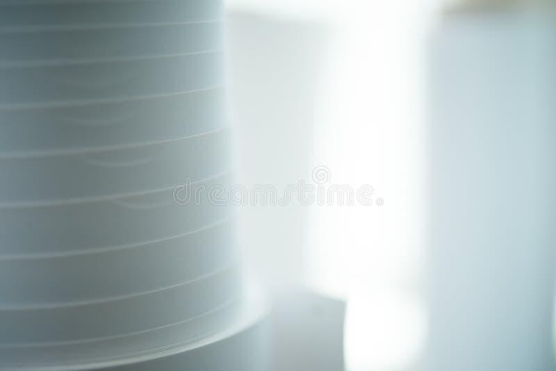 Rotoli della carta della stamperia fotografie stock libere da diritti