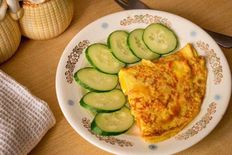 Rotoli della verdura dell'omelette fotografia stock libera da diritti