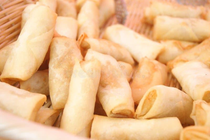 Rotoli di molla cinesi dell'alimento fotografie stock libere da diritti