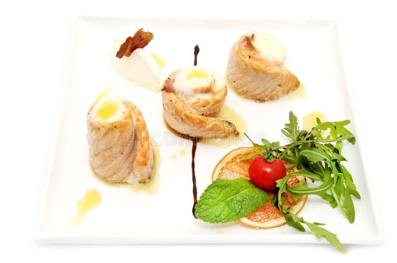 Rotoli fritti del pesce immagine stock