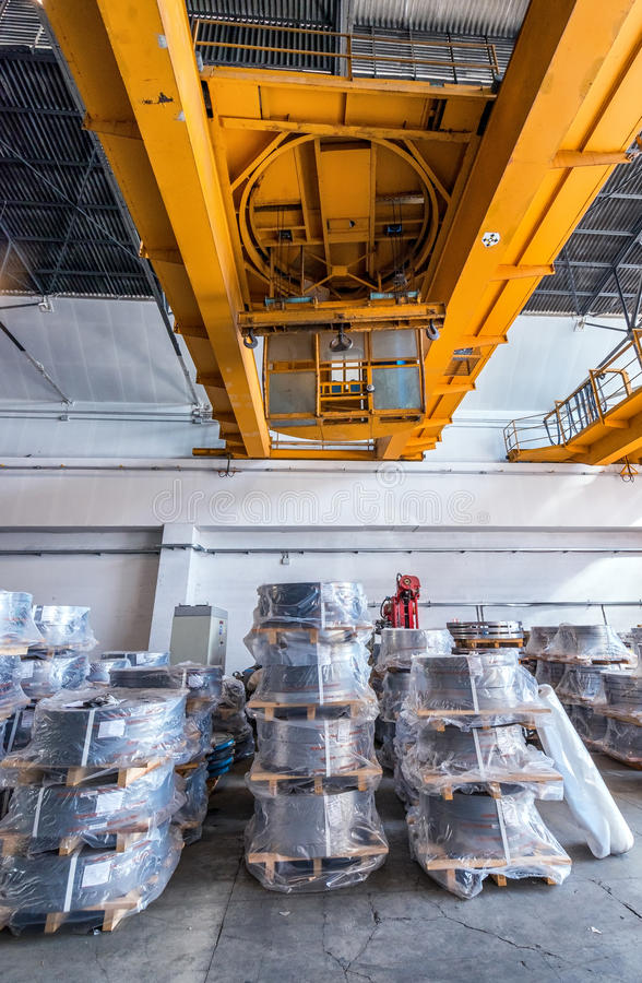 Rotoli imballati della lamiera di acciaio Bobine laminate a freddo dell'acciaio immagini stock