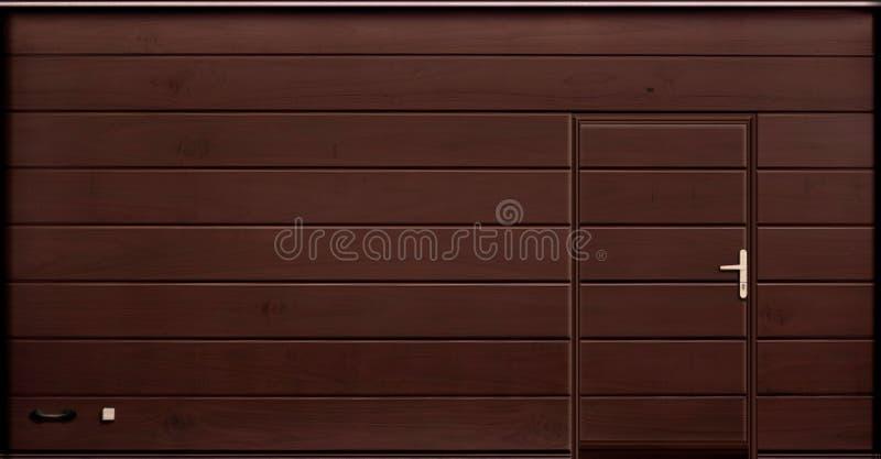 Rotoli sui portoni della porta del garage, illustrazione di struttura immagine stock