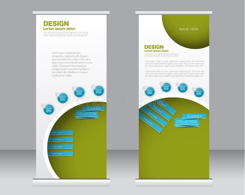 Rotoli sul modello del supporto dell'insegna Fondo astratto per progettazione, illustrazione vettoriale