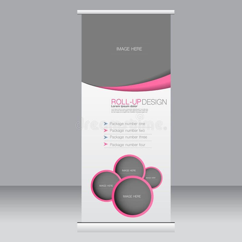Rotoli sul modello del supporto dell'insegna Fondo astratto per progettazione, affare, istruzione, pubblicità Colore dentellare I illustrazione di stock
