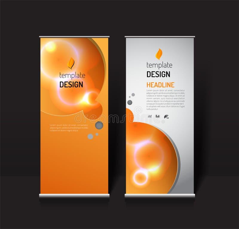 Rotoli sul modello di progettazione dell'insegna concetto moderno della luce di effetto illustrazione vettoriale