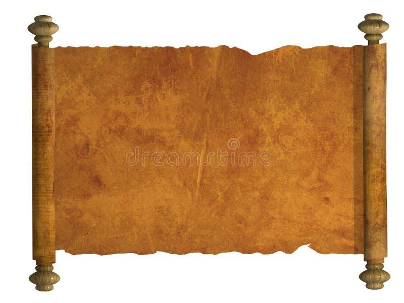 rotolo 3d di vecchia pergamena illustrazione vettoriale
