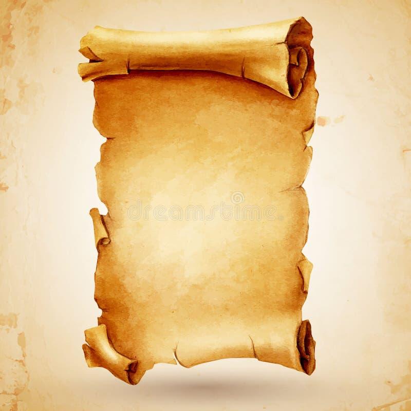 Rotolo antico di Pergamena illustrazione vettoriale