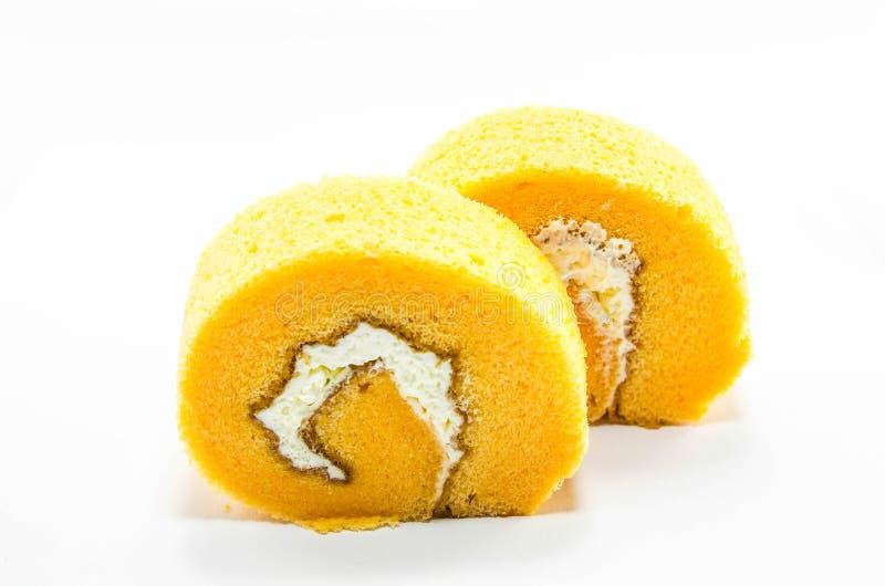 Download Rotolo arancio del dolce fotografia stock. Immagine di pasto - 55361430