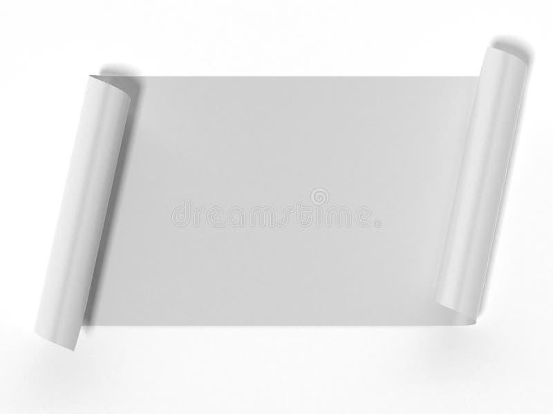 Rotolo bianco in bianco illustrazione di stock