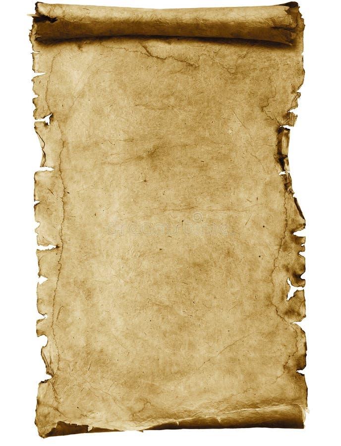 Rotolo in bianco della pergamena fotografia stock