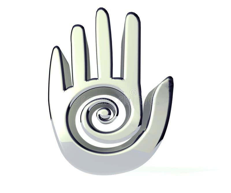 Rotolo 3D della mano illustrazione vettoriale