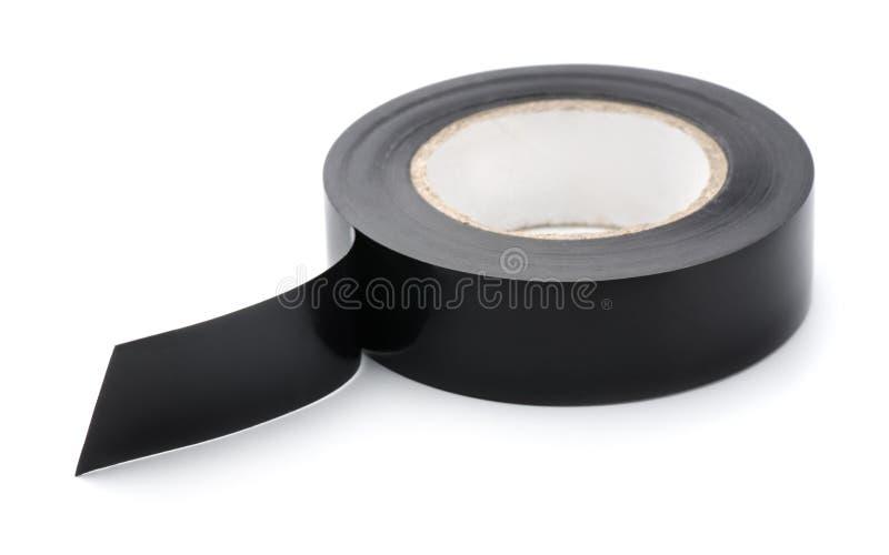Rotolo del nastro nero del condotto fotografie stock libere da diritti