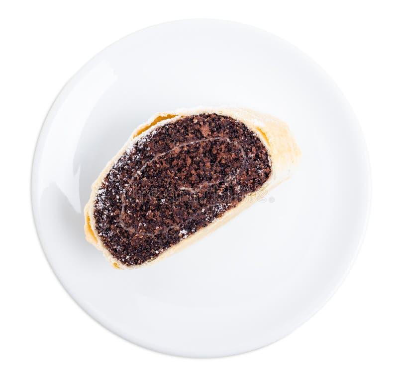 Rotolo delizioso del seme di papavero fotografia stock libera da diritti