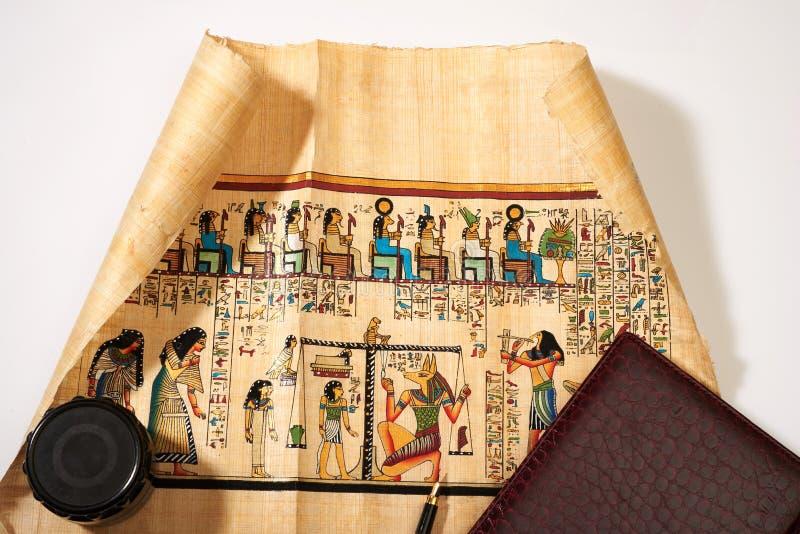 Rotolo dell'Egitto antico immagine stock libera da diritti