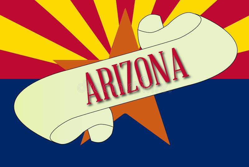 Rotolo della bandiera dell'Arizona illustrazione di stock