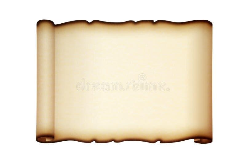 Rotolo della carta pergamena fotografia stock libera da diritti