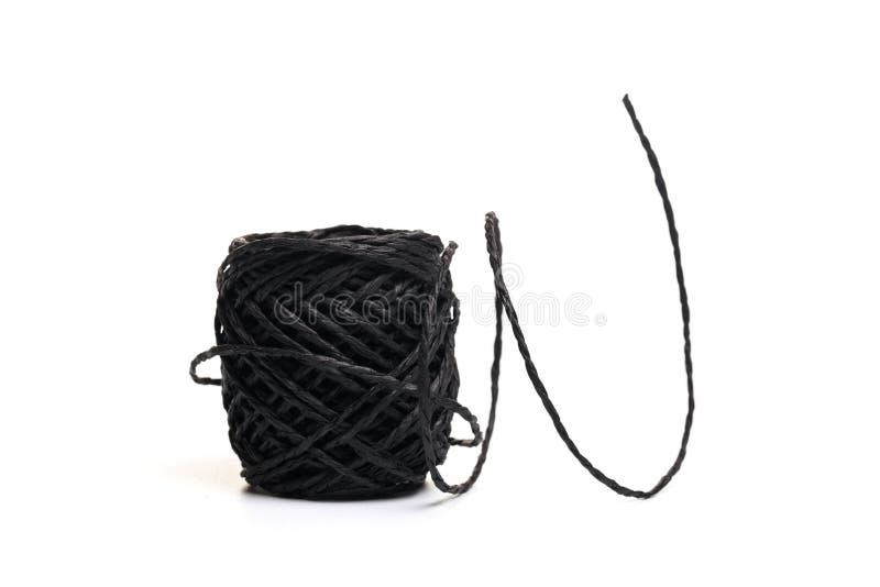 Rotolo della corda della canapa isolato su fondo bianco illustrazione di stock