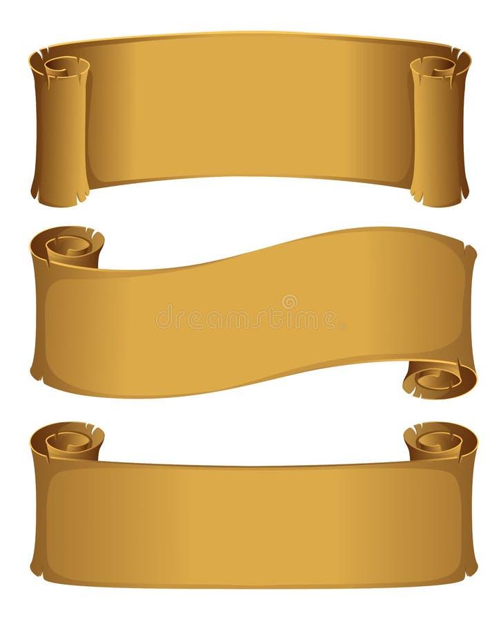 Rotolo della pergamena illustrazione di stock
