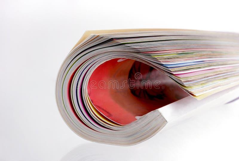 Rotolo della rivista fotografie stock libere da diritti