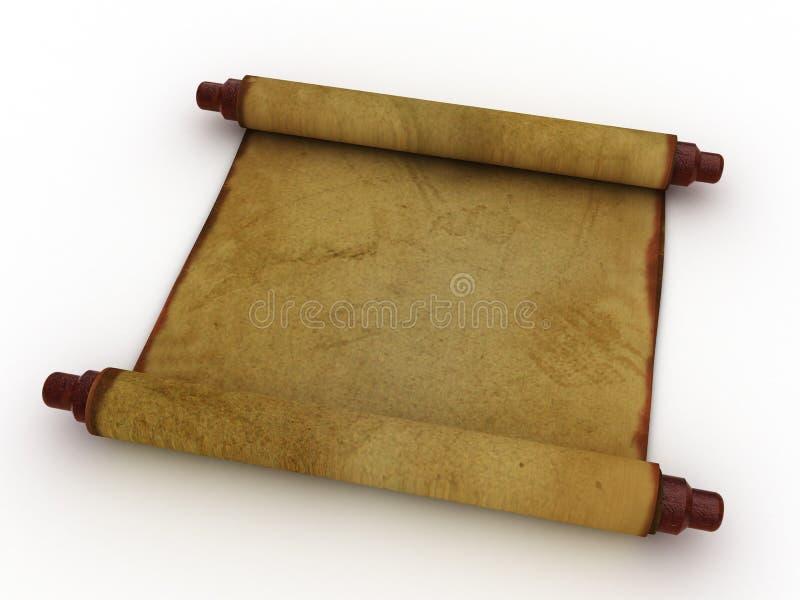 Download Rotolo di carta antico illustrazione di stock. Illustrazione di pergamena - 7309862