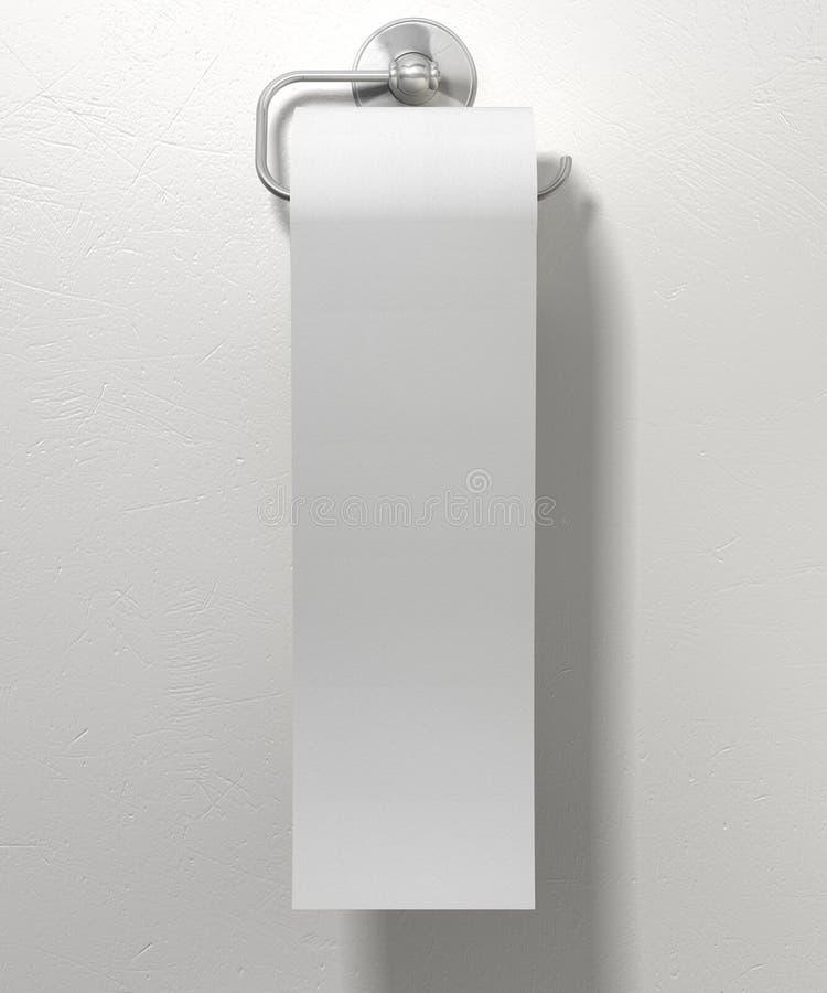 Rotolo di carta igienica sul gancio di Chrome immagine stock libera da diritti