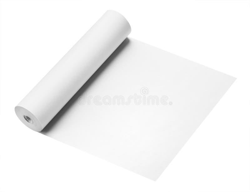 Rotolo Di Carta, Isolato Fotografia Stock