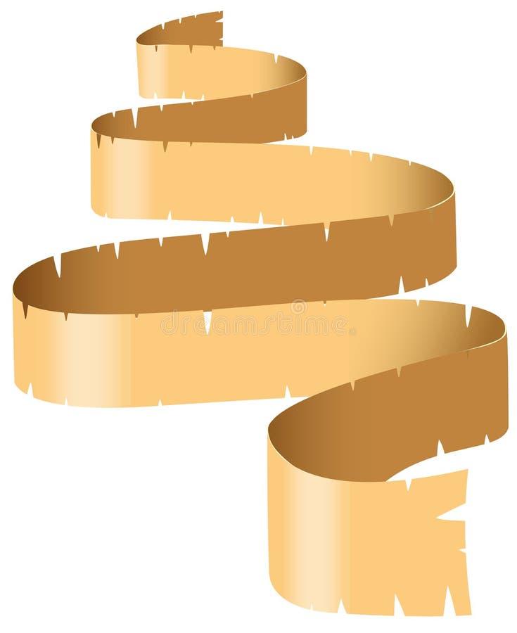 Rotolo di carta marrone illustrazione di stock