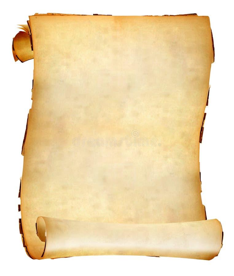 Rotolo di carta vecchio fotografie stock libere da diritti