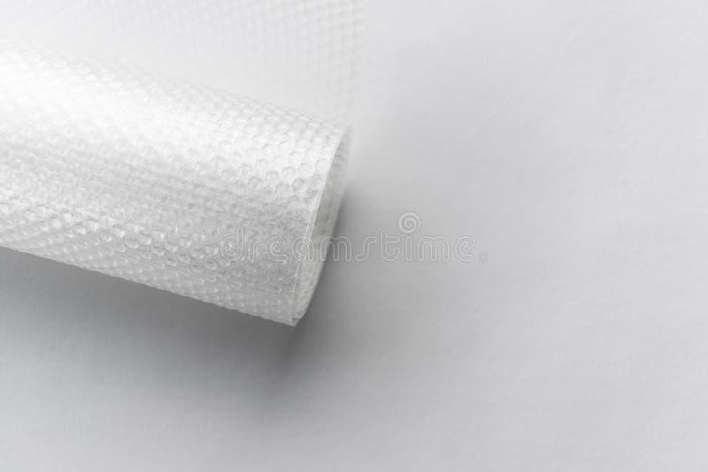 Rotolo di imballaggio di plastica delle bolle fotografia stock libera da diritti