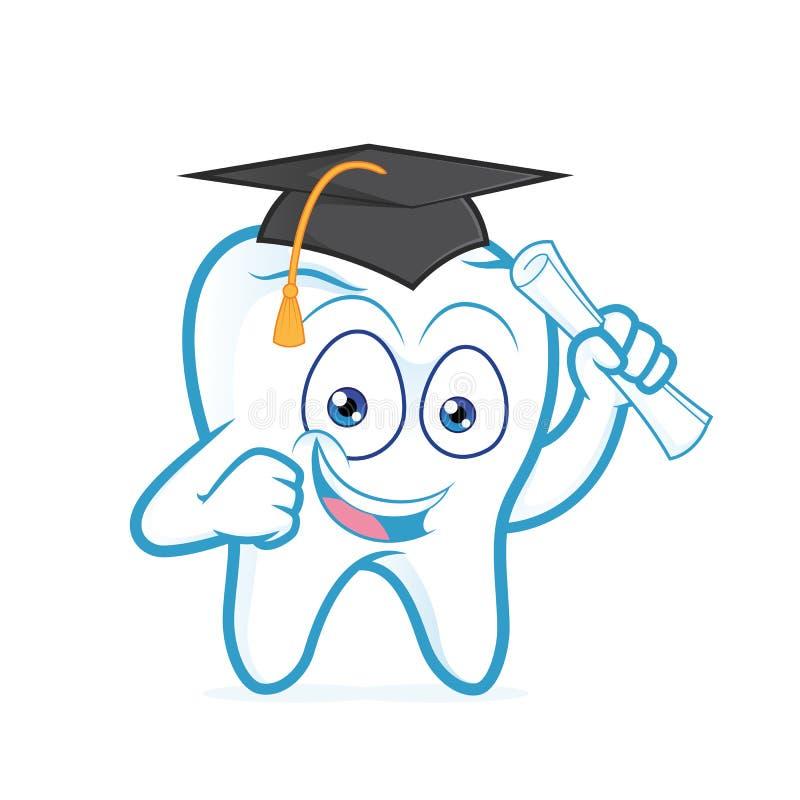 Rotolo di laurea della carta della tenuta del dente illustrazione vettoriale