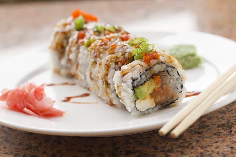 Rotolo di Philadelphia dei sushi fotografie stock