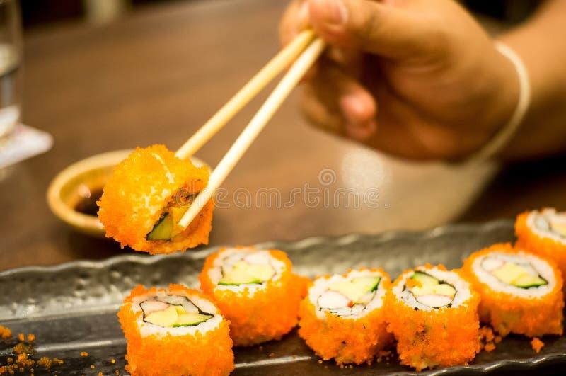Rotolo di sushi di California immagine stock libera da diritti