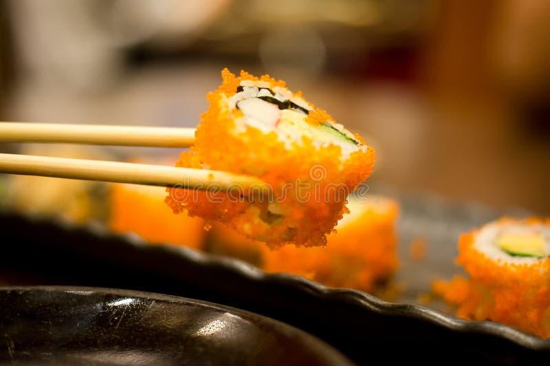 Rotolo di sushi di California immagini stock