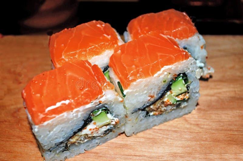 Rotolo di sushi di Filadelfia fotografia stock libera da diritti