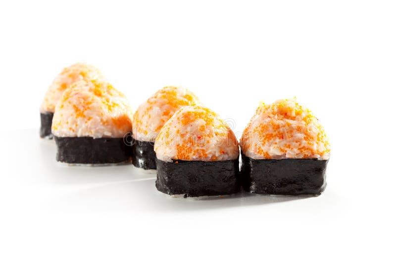 Rotolo di sushi fritto fotografie stock