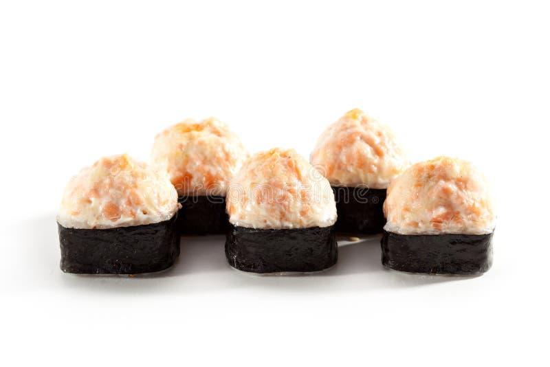 Rotolo di sushi fritto immagini stock libere da diritti