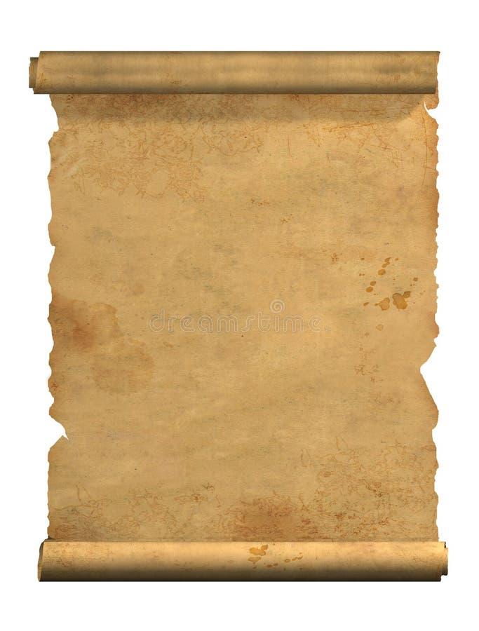 Rotolo di vecchia pergamena fotografie stock