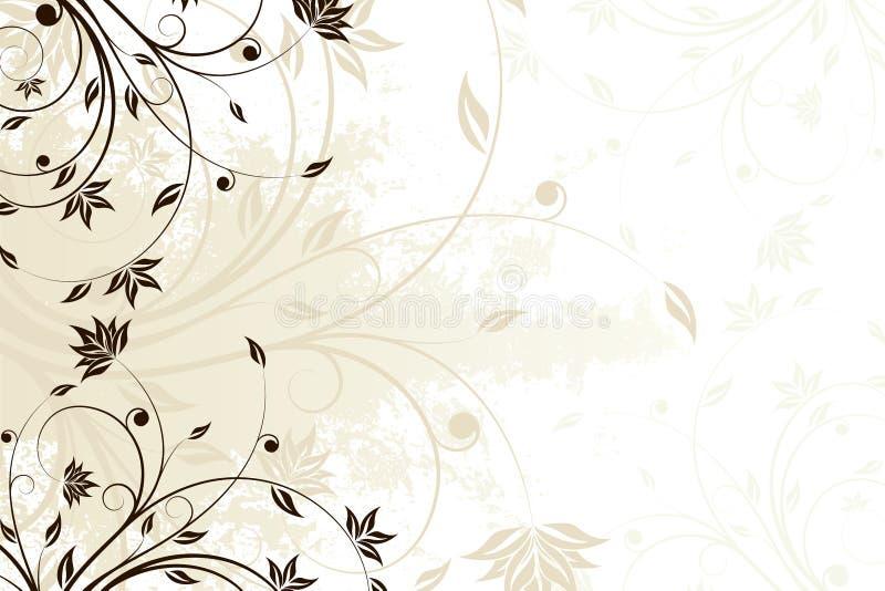 Rotolo floreale di Grunge royalty illustrazione gratis