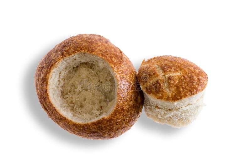 Rotolo fresco crostoso pronto come ciotola del pane fotografia stock libera da diritti