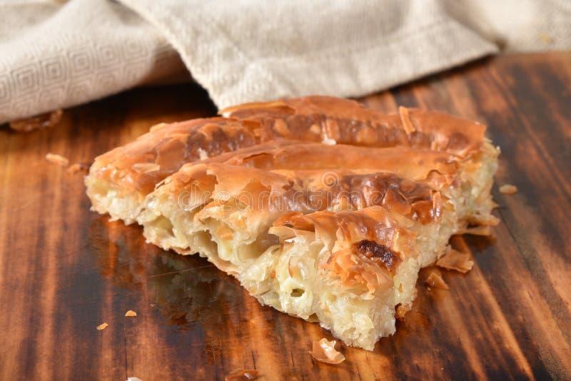 Rotolo greco del formaggio di Gouret fotografia stock